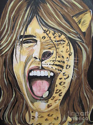 Steven Tyler Painting - Steven Tyler As A Wild Cat by Jeepee Aero