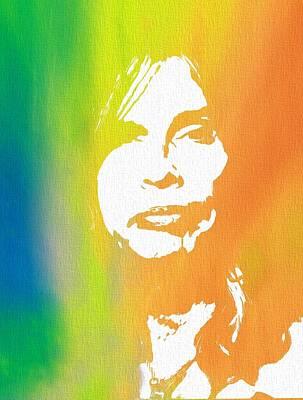 Steven Tyler Digital Art - Steven Tyler Canvas by Dan Sproul