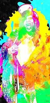 Steven Tyler Mixed Media - Steven Tyler Grunge by Daniel Janda