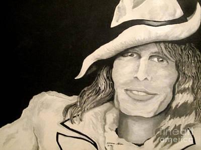 Steven Tyler Painting - Steven Tyler Portrait by Kathleen Allen