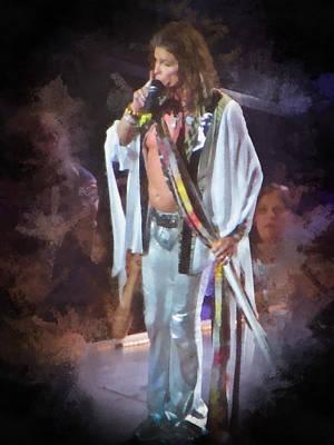 Aerosmith Painting - Steven Tyler Live At Concert by Eti Reid