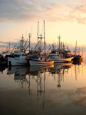 Steveston Harbour Print by Shirley Sirois