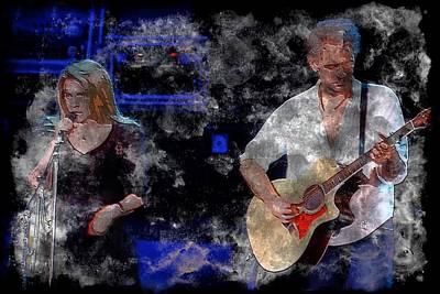 Stevie And Lindsey Print by John Delong