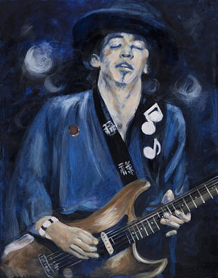 Epiphone Guitar Photograph - Stevie Ray Vaughn by Greg Kopriva