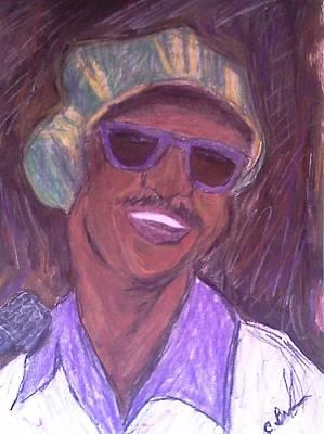 Soul Singer Drawing - Stevie Wonder 2 by Christy Saunders Church