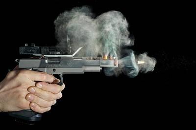 High Speed Photograph - Sti Edge Pistol Shot by Herra Kuulapaa � Precires
