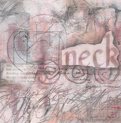 Peach Mixed Media - Sticking Your Neck O by Laura  Lein-Svencner