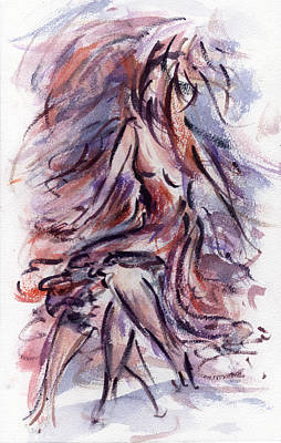 Dancing Girl Painting - Still Dancing by Rachel Christine Nowicki