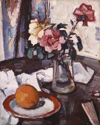 Scottish Colourist Painting - Still-life, 1935 by Samuel John Peploe