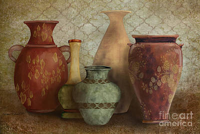 Pottery Painting - Still Life-a by Jean Plout