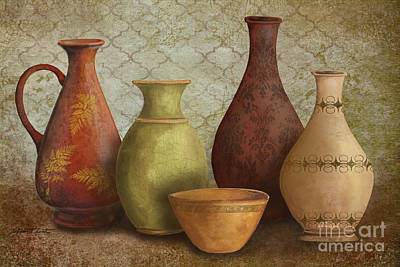Pottery Painting - Still Life-b by Jean Plout