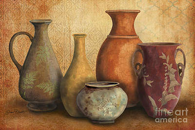 Pottery Painting - Still Life-c by Jean Plout