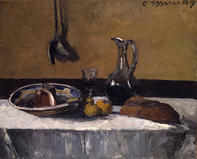 Still Life Print by Camille Pissarro