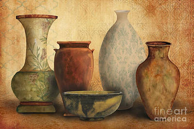 Pottery Painting - Still Life-d by Jean Plout