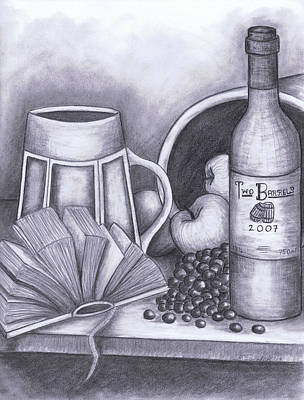 Apple Drawing - Still Life Drawing by Kamil Swiatek