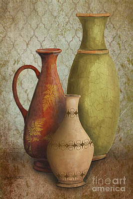 Pottery Painting - Still Life-e by Jean Plout