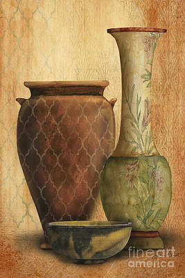Pottery Painting - Still Life-i by Jean Plout
