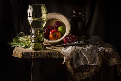 Still Life In Red And Green Print by Jon Wild