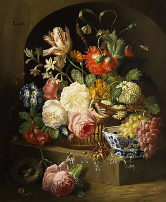 Pears Painting - Still Life by Josef Holstayn