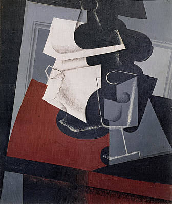 Still Life On A Table, 1916 Oil On Canvas Print by Juan Gris