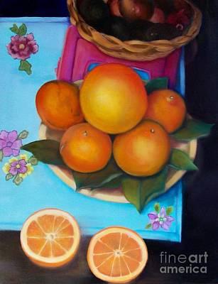 Still Life Oranges And Grapefruit Original by Marlene Book