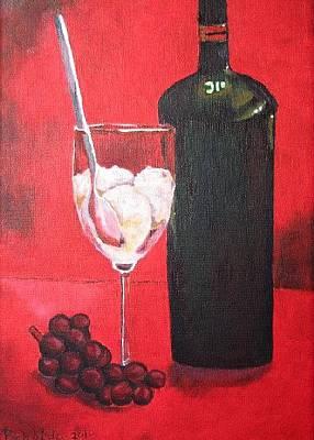 Beer Oil Painting - Still Life by Prasida Yerra