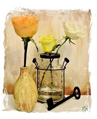Wrap Digital Art - Still Life Roses by Marsha Heiken