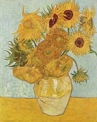 Sunflowers Still Life Painting - Still Life Sunflowers by Vincent Van Gogh