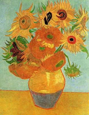 Sunflower Painting - Still Life Vase With Twelve Sunflowers by Vincent Van Gogh