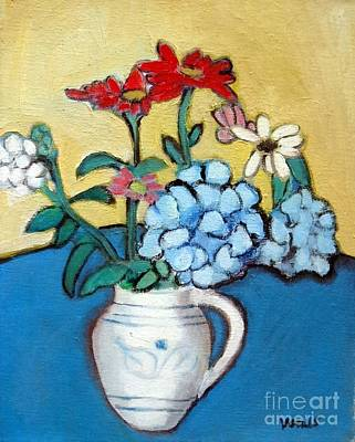 Painting - Still Life White Pitcher by Venus