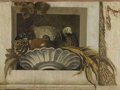 Artichoke Drawing - Still Life With A Bowl Of Corn, Artichokes by Litz Collection