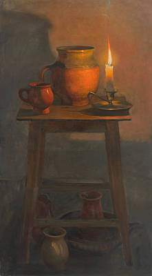 Still-life With A Candle Original by Victoria Kharchenko