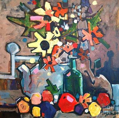 Still Life With A Violin Print by Micheal Jones