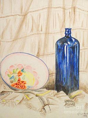 Basic Drawing - Still-life With Blue Bottle by Alan Hogan