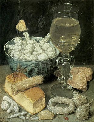 Candy Painting - Still Life With Bread And Confectionery by Georg Flegel