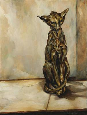 Still Life With Cat Sculpture Original by Jolante Hesse