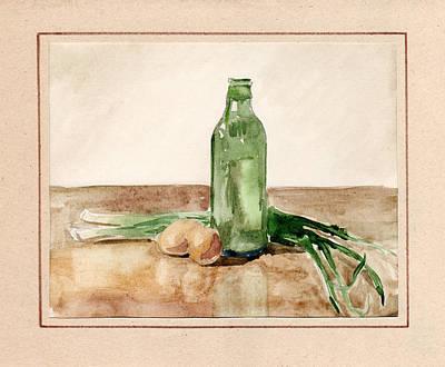 Still Life With Eggs  Print by Masha Batkova