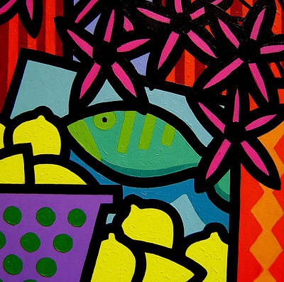 Still Life With Fish Print by John  Nolan