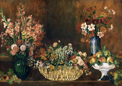 Pierre-auguste Renoir Painting - Still Life With Flowers And Fruit by Pierre-Auguste Renoir