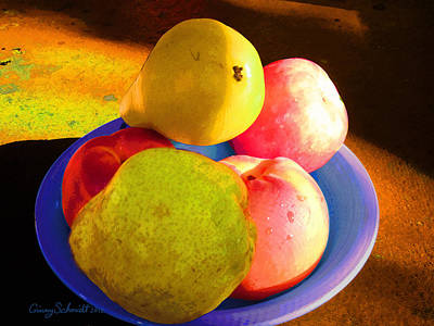 Still Life With Fruit Print by Ginny Schmidt