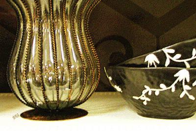 Contemporary Ceramics Photograph - Still Life With Golden Vase by Ben and Raisa Gertsberg