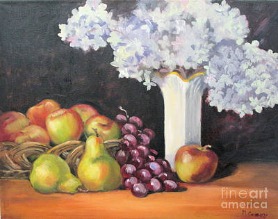 Limelight Painting - Still Life With Hydrangea by Marge Casey