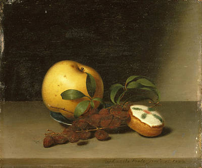 Peale Painting - Still Life With Cake  by Raphaelle Peale