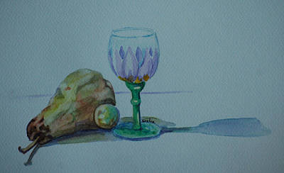 Still Life With Pear Print by Venetia Bebi