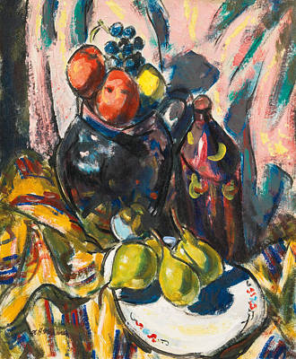 Alfred Henry Maurer Painting - Still Life With Pears by Alfred Henry Maurer
