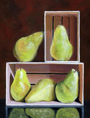 Still Life With Pears Print by Karyn Robinson
