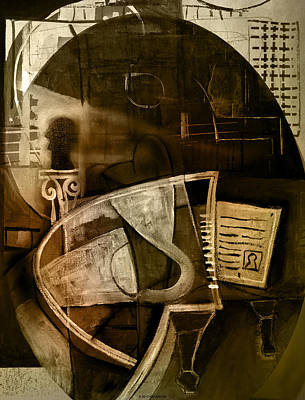 Pablo Mixed Media - Still Life With Piano And Bust by Kim Gauge