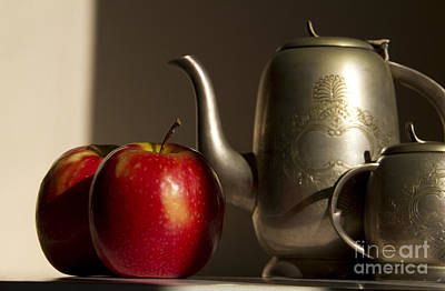 Still Life With Red Apples Print by Rita Kapitulski