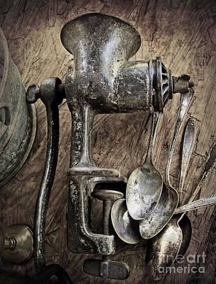 Old Grinders Photograph - Still Life With Silverware by Elena Nosyreva
