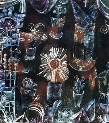 Abstract Painting - Still Life With Thistle Bloom 1919 by Paul Klee